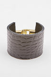 Crocodile-Embossed Cuff (Pre-Order) Black