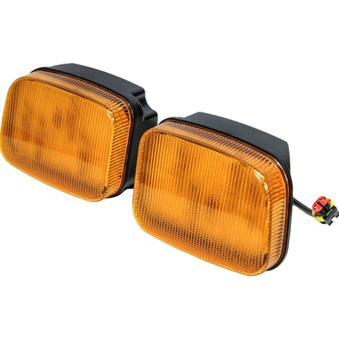 Ford-New Holland 70 Genesis Series LED Amber Cab Corner Light Kit - Petersen Parts