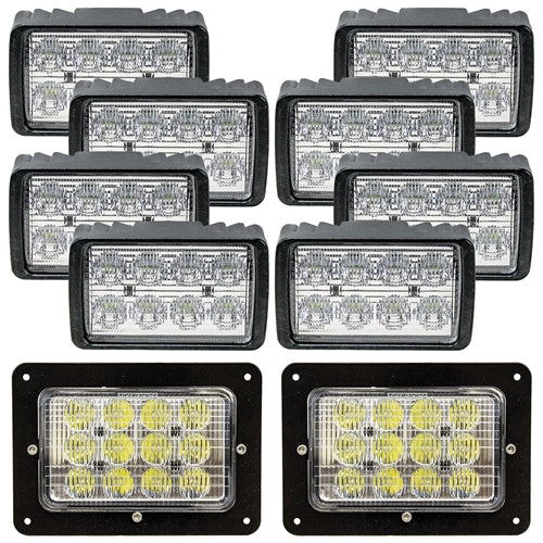 Complete Case IH 9100-9300 Series/Steiger LED Light Kit - Petersen Parts