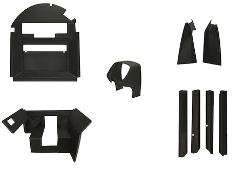 John Deere 4040-4840 complete QUICK FIT interior kit with floor mat & kick panels - Petersen Parts