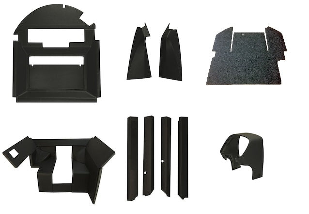 John Deere 4030-4630 complete interior kit with floor mat & kick panel QUICK FIT - Petersen Parts