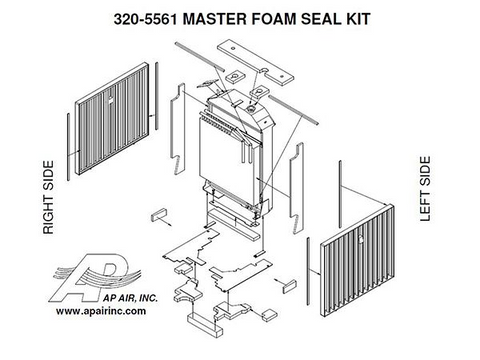 4030 to 4455 Master Foam Seal Kit - Petersen Parts
