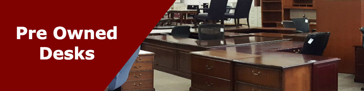 Wilcox Office Furniture Provides A Wide Selection Of Used Office Desks At  Low Prices. We Offer A Variety Of Colors, Shapes, And Sizes To Suit Any  Need, ...