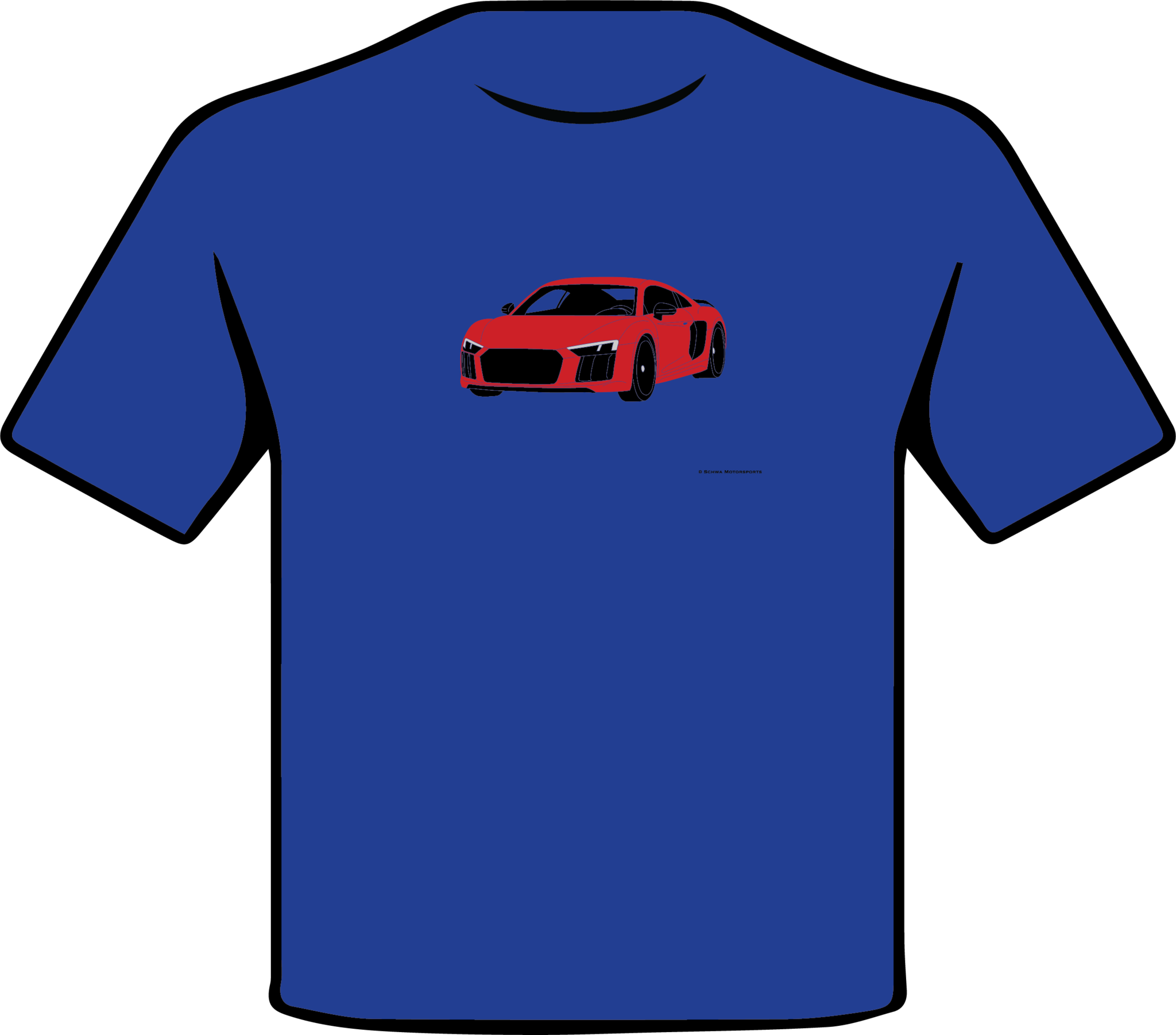 Audi R8 Front 3/4 Angle Multi Color T-Shirt