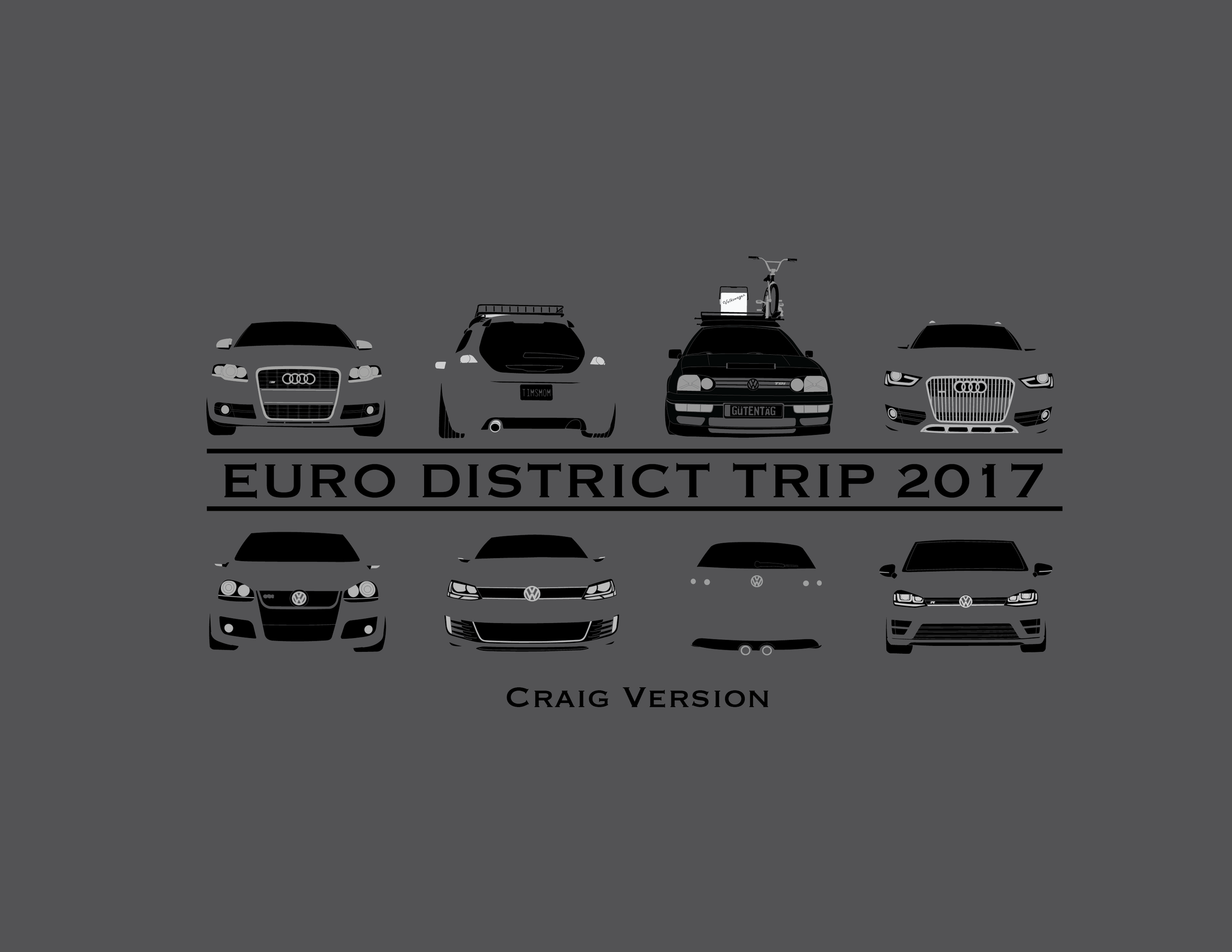 Euro District 2017 Trip Multi Color T-Shirt