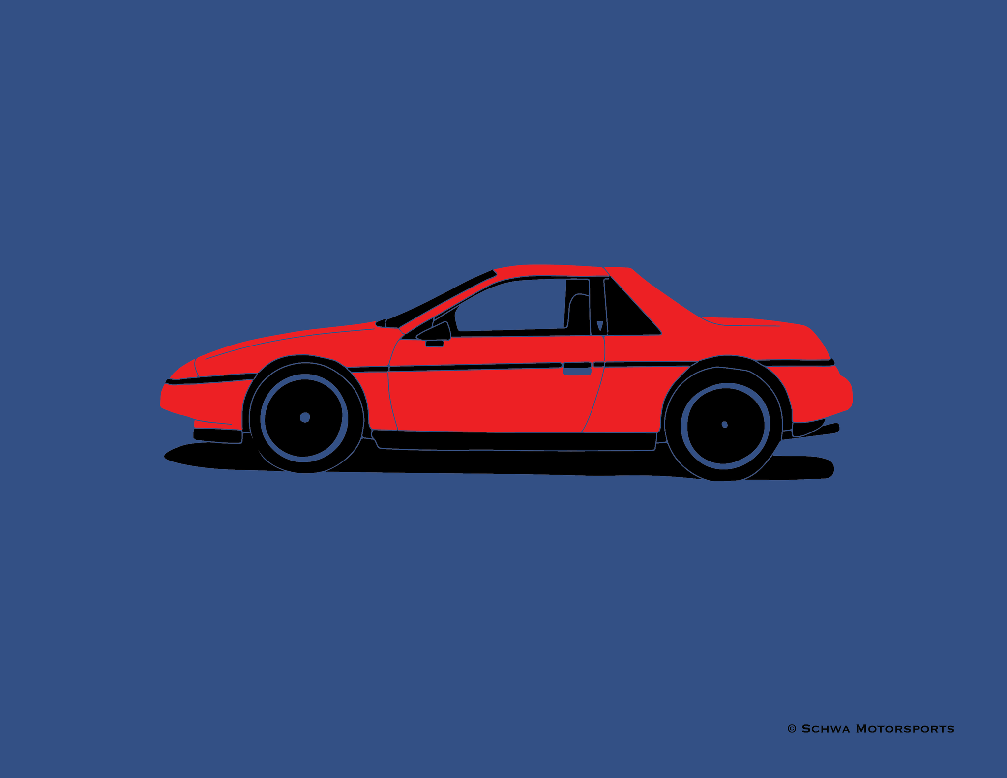 Pontiac Fiero Coupe Side View T-Shirt