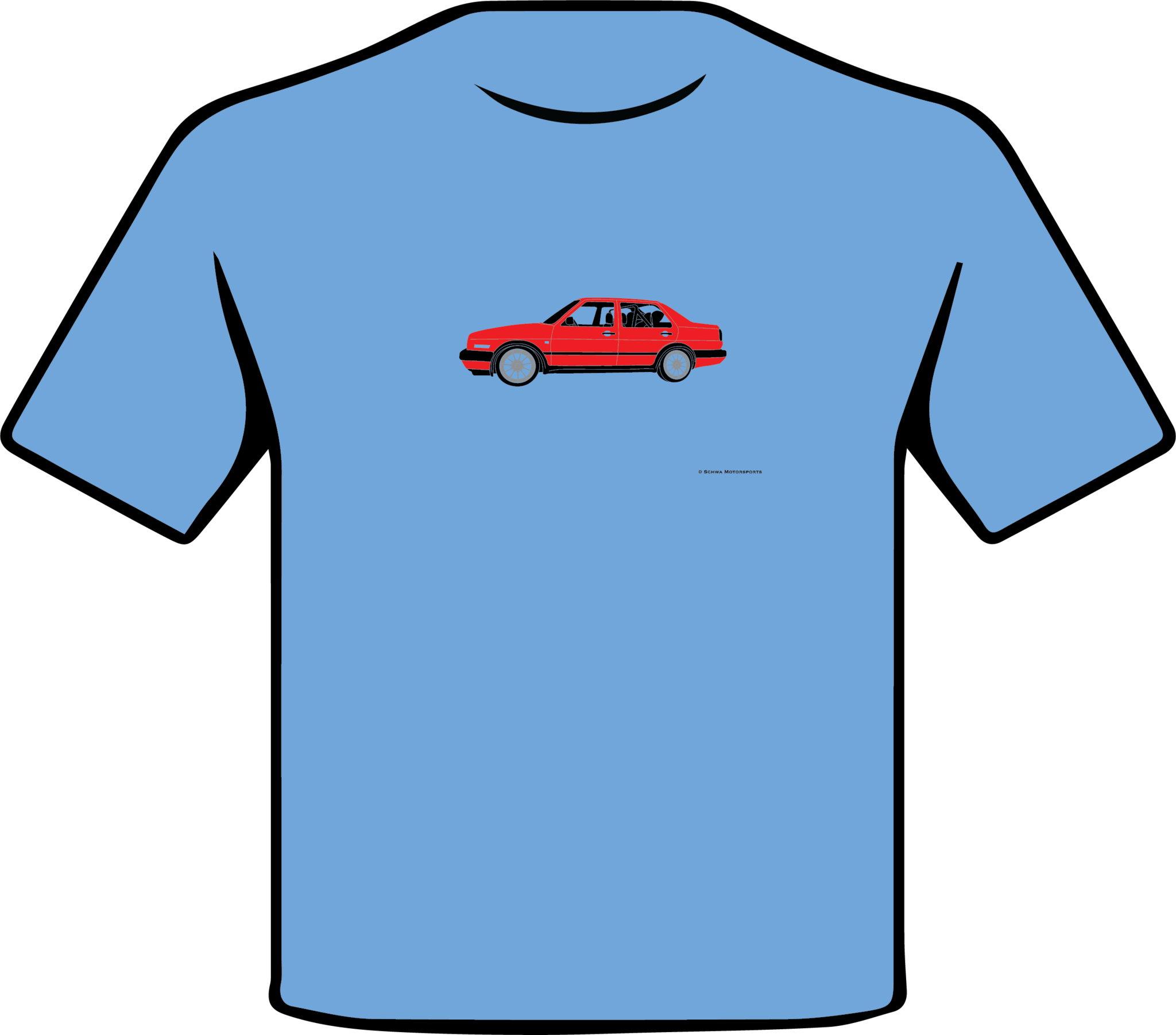 Volkswagen MK2 Jetta Side View Multi Color T-Shirt