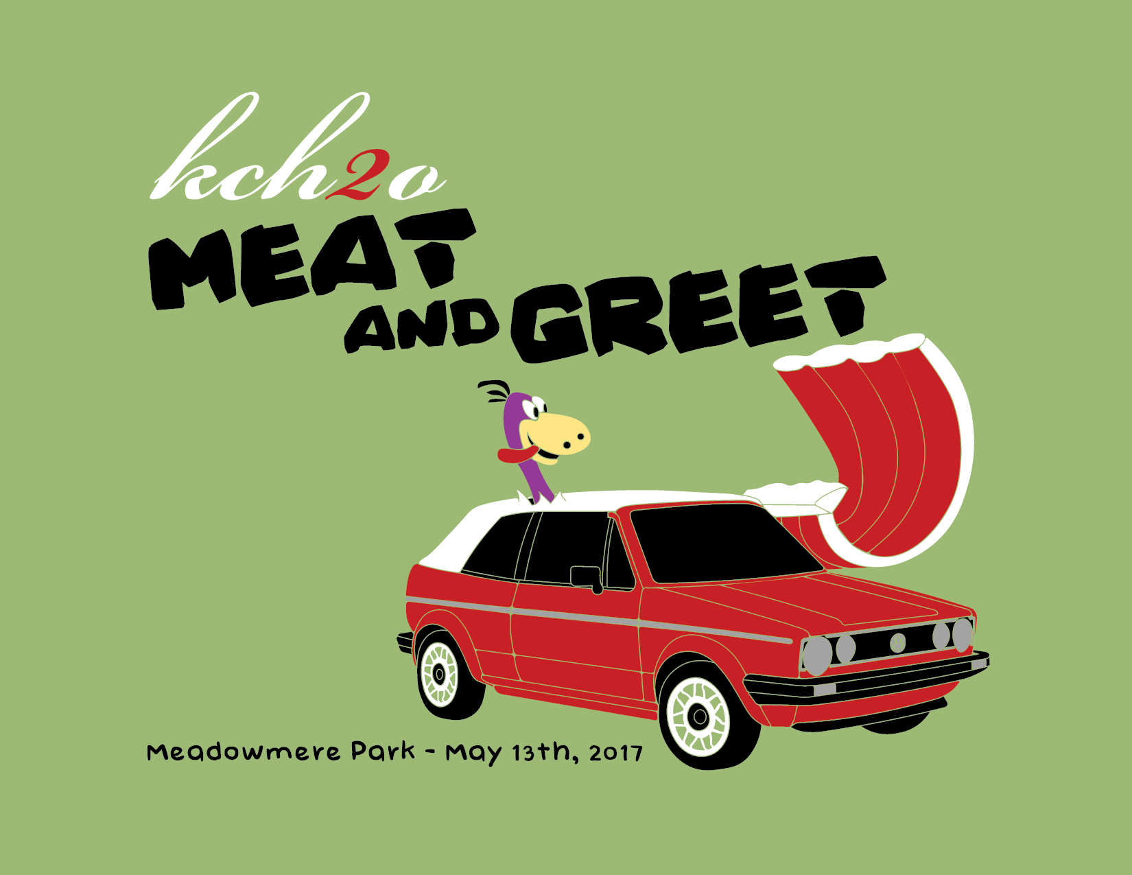 KCH2O Meat and Greet 2017 Multi Color T-Shirt