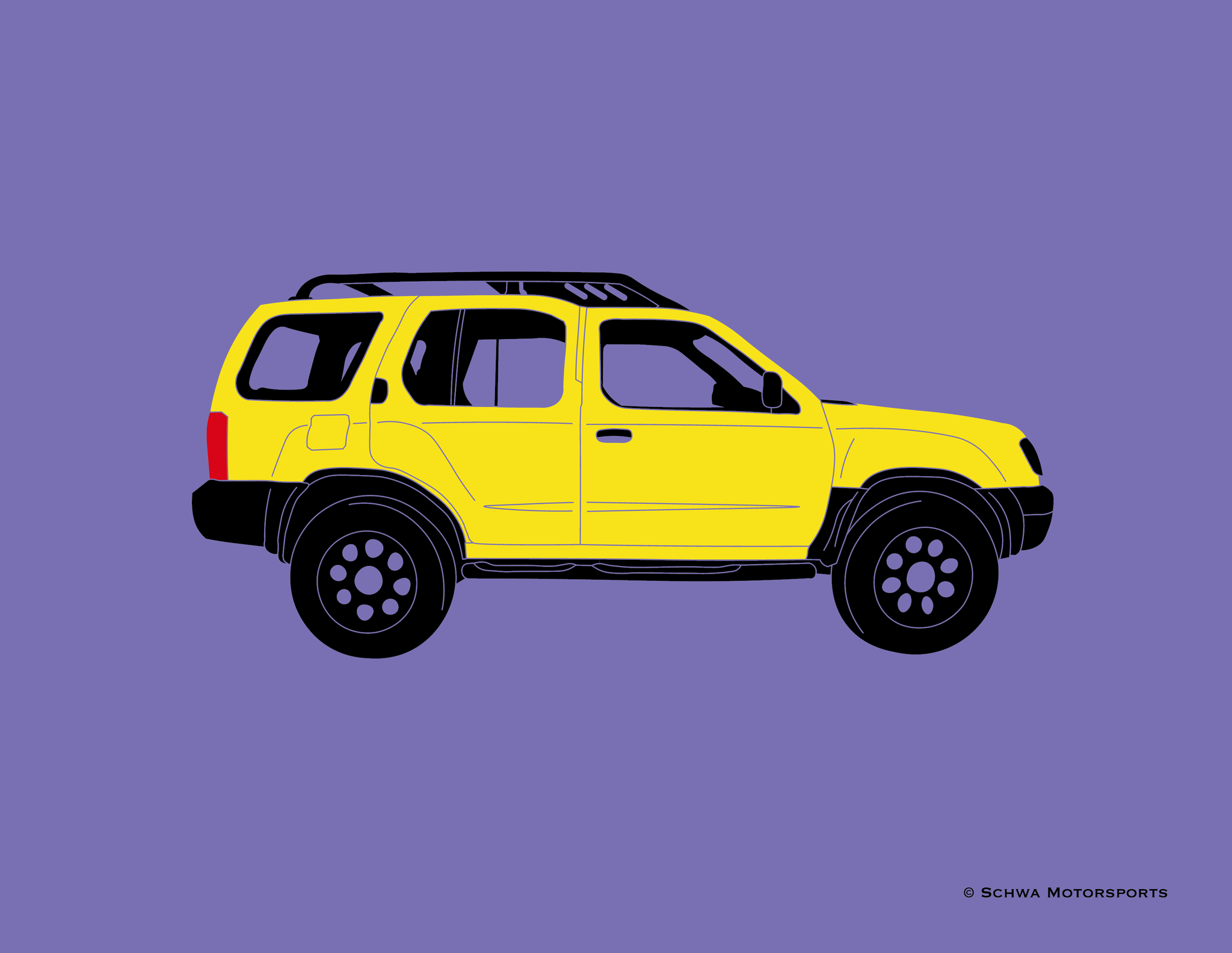Nissan Xterra Side View Multi Color T-Shirt