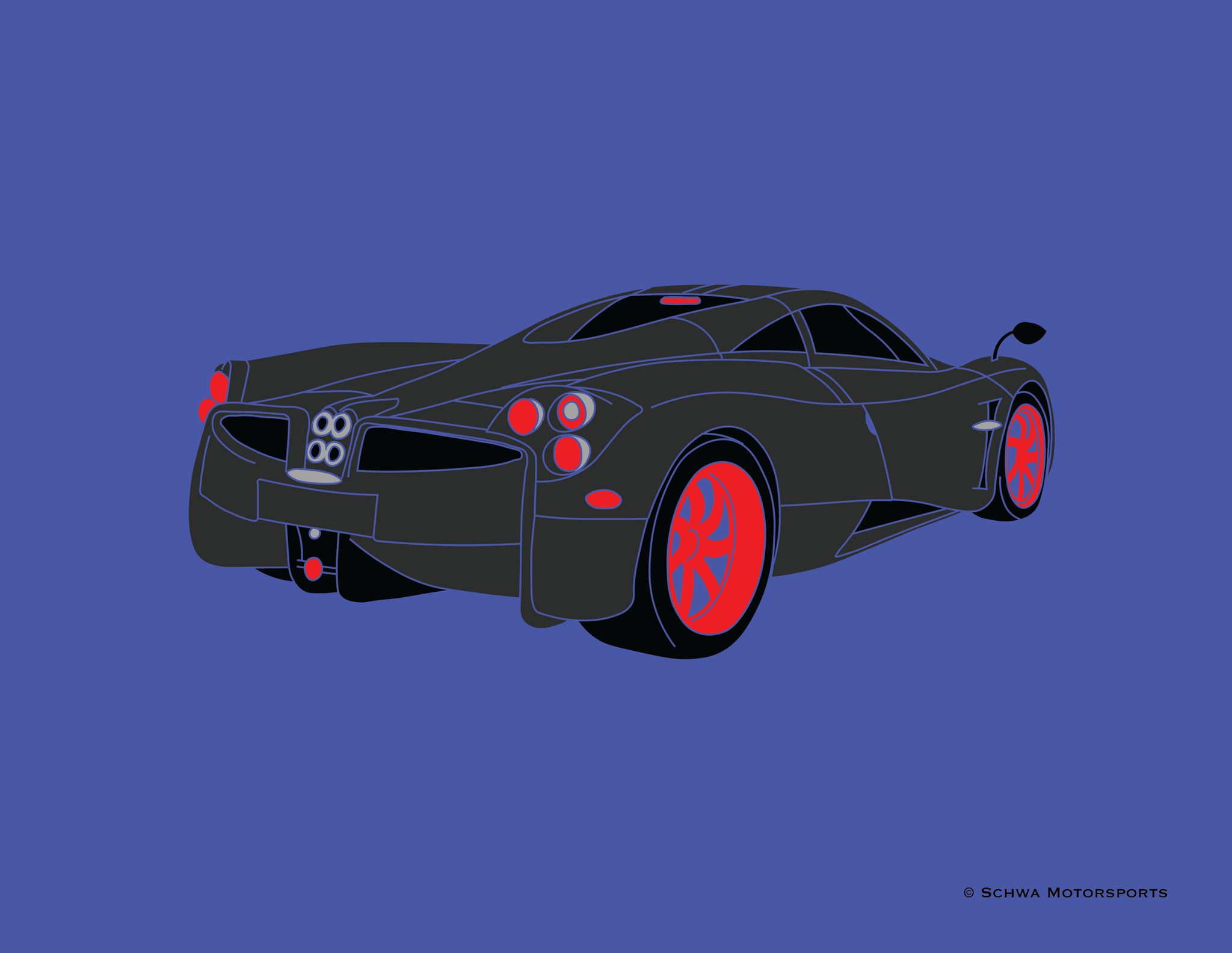 Pagani Huarya Rear 3/4 Angle View T-Shirt