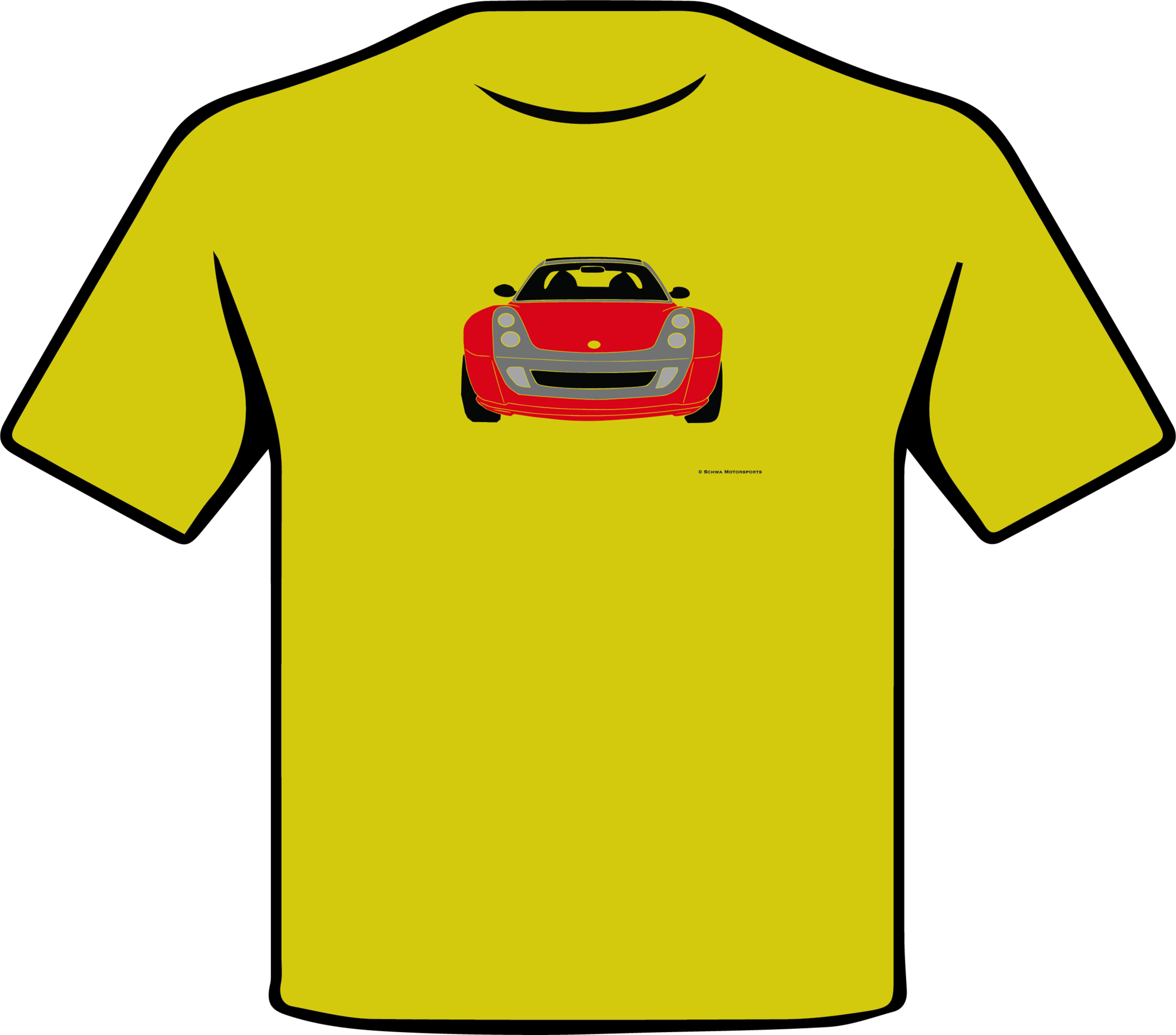 Smart Roadster Front View Multi Color T-Shirt