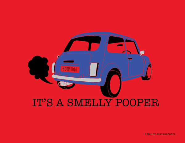 Mini Cooper It's A Smelly Pooper Multi Color T-Shirt
