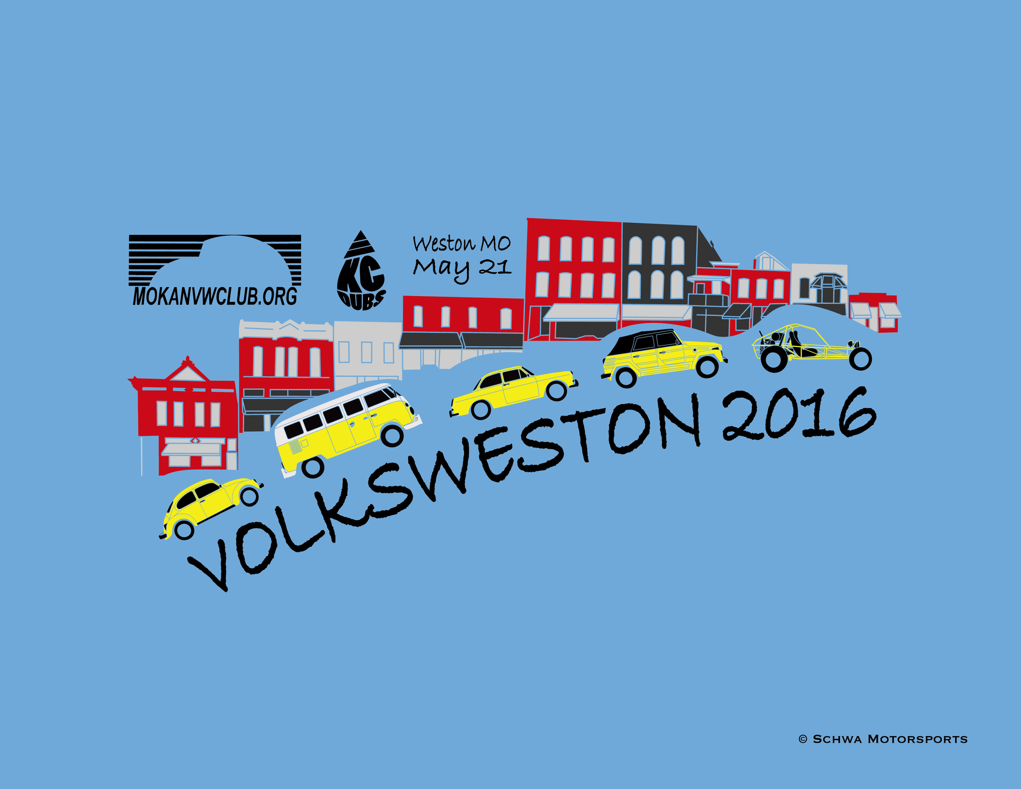 VolksWeston 2016 Show Multi Color T-Shirt