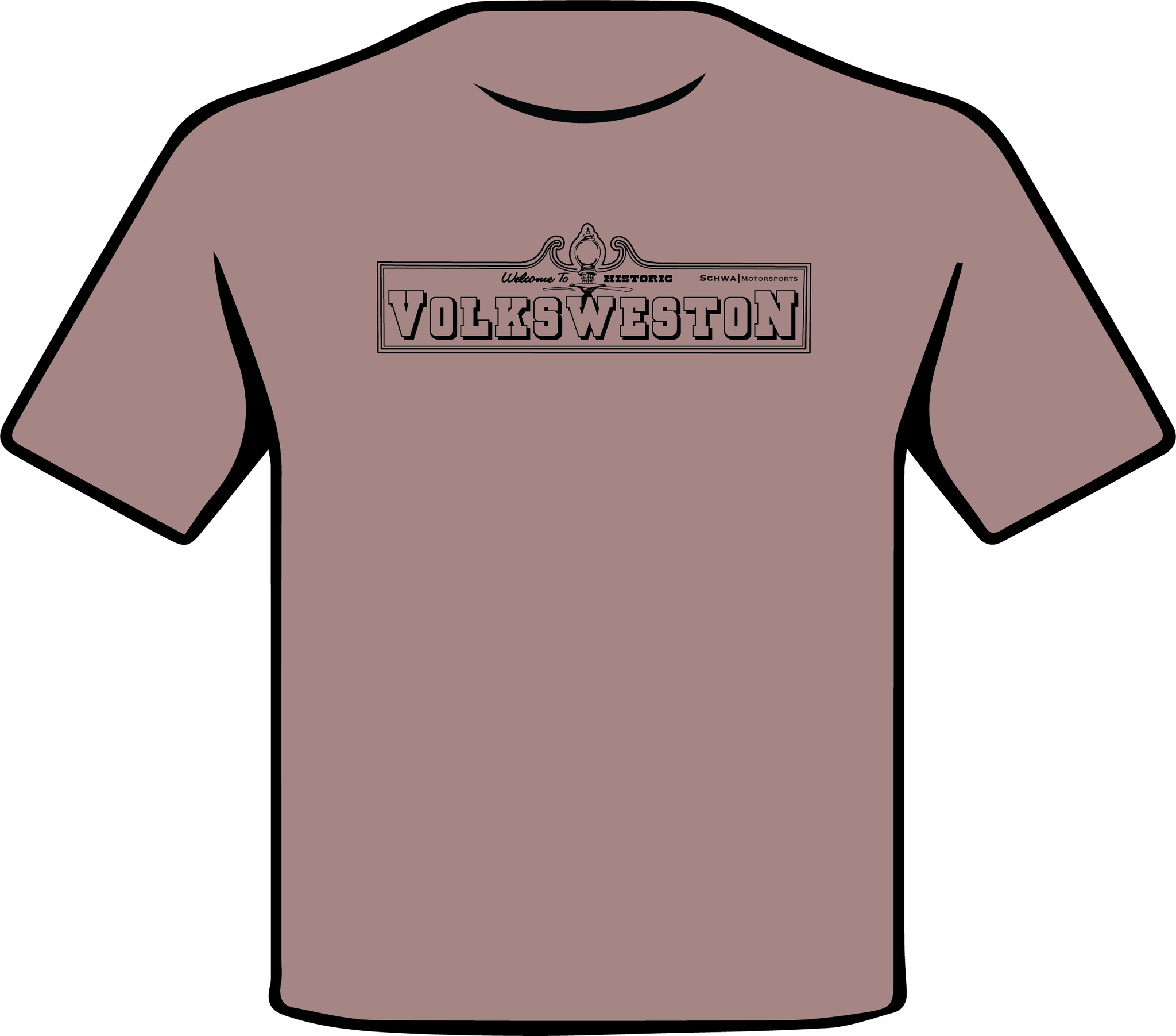 VolksWeston Show Welcome Sign Single Color T-Shirt