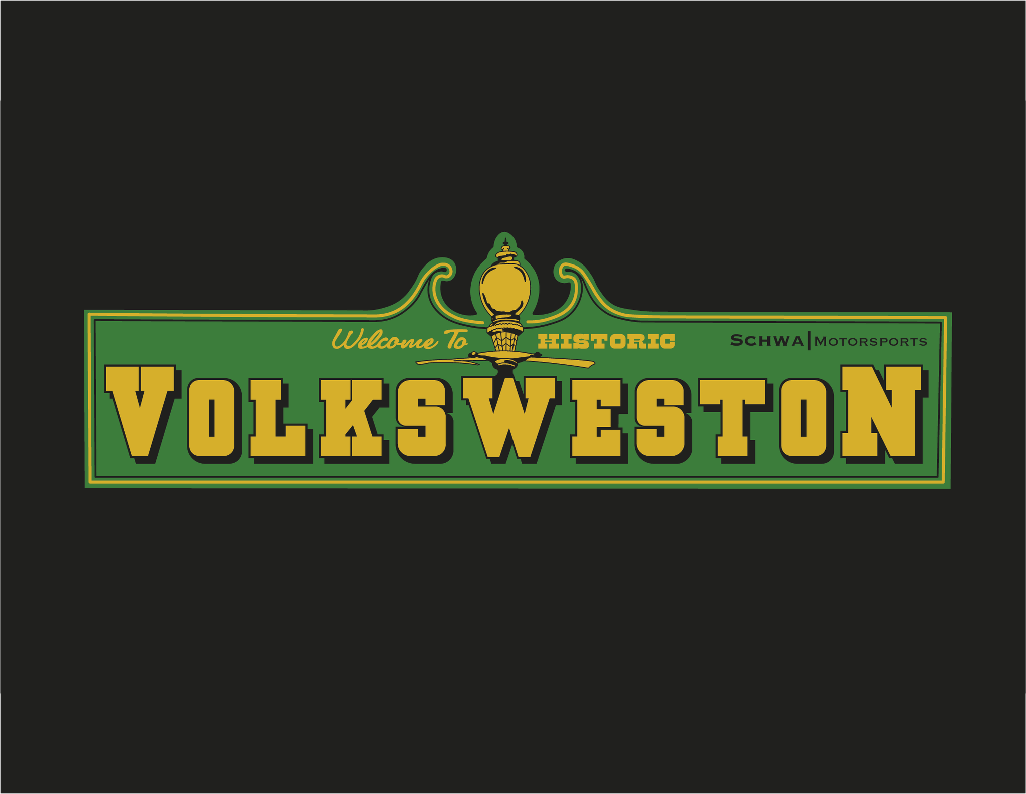 VolksWeston Show Welcome Sign Multi Color T-Shirt