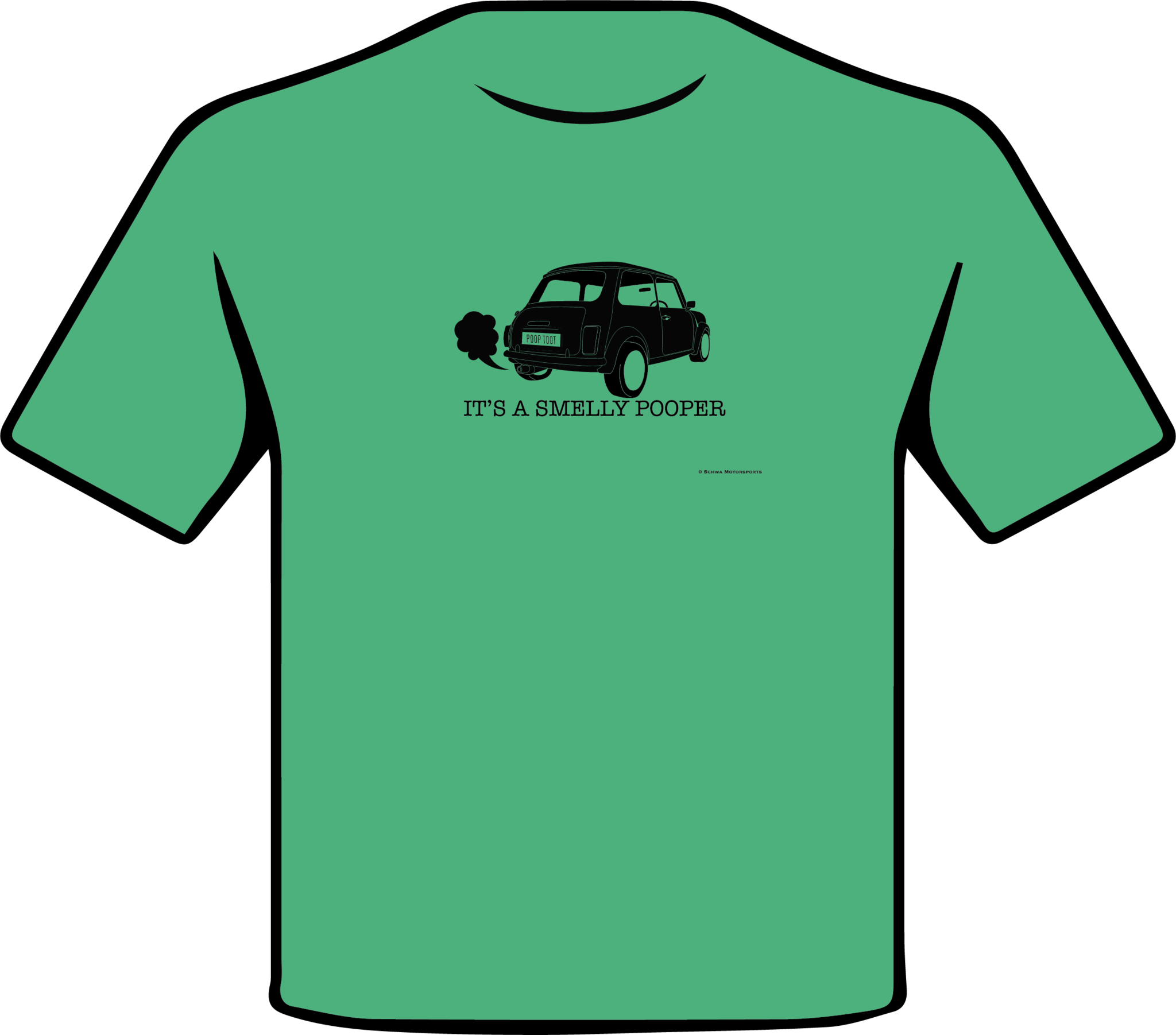 Mini Cooper It's A Smelly Pooper One Color T-Shirt