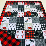 North Woods Deer Designer Luxe Minky Blanket