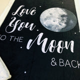 Love You To The Moon and Back Designer Luxe Minky Blanket