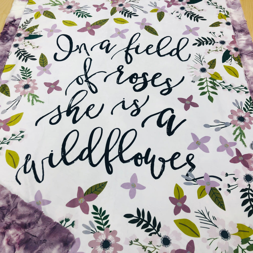 She is a Wildflower Designer Luxe Minky Blanket