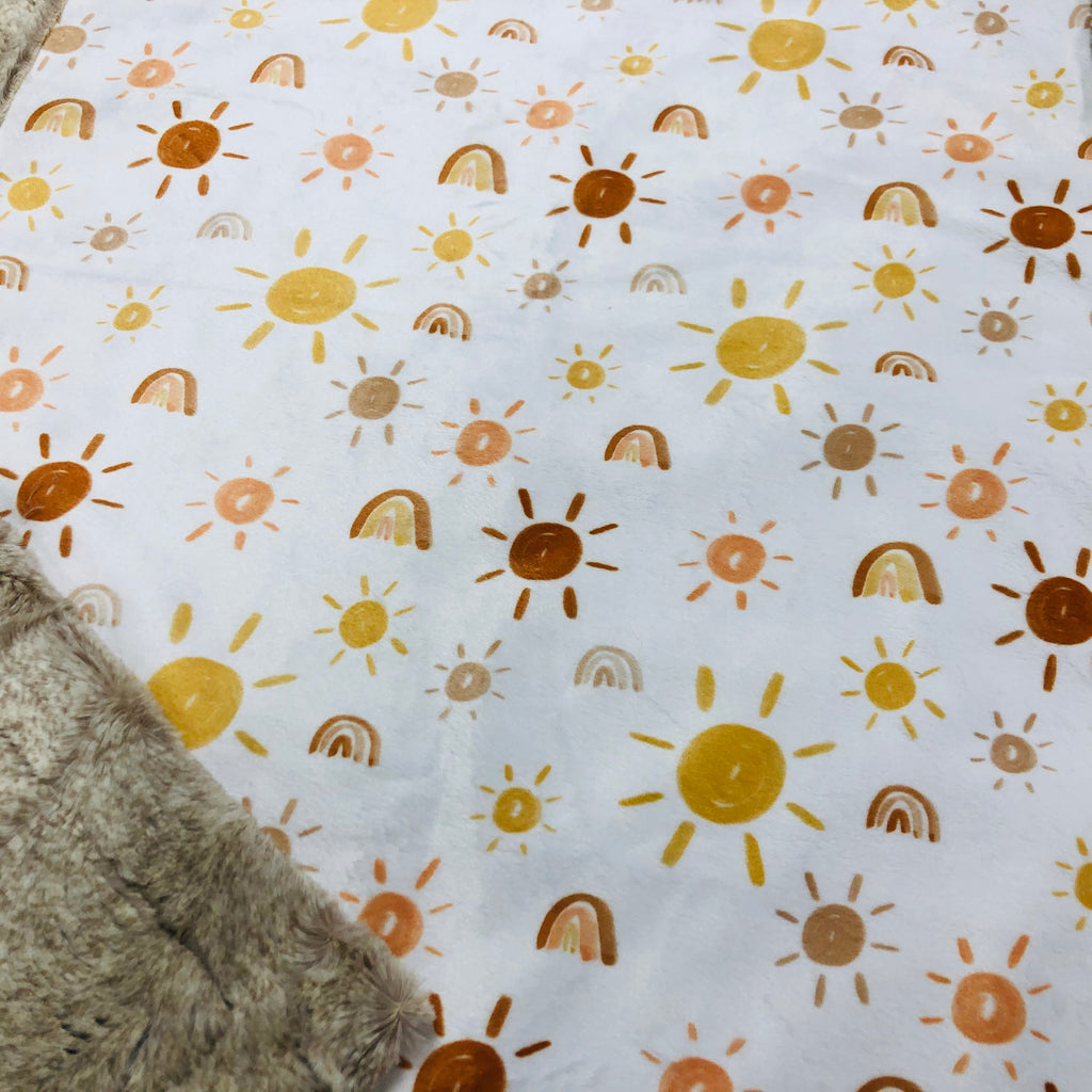Suns and Rainbows Designer Luxe Minky Blanket