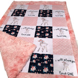 I Will Always Love Ewe Designer Luxe Minky Blanket