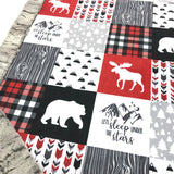 Let's Sleep Under The Stars Designer Luxe Minky Blanket