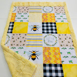 Little Bee Designer Luxe Minky Blanket