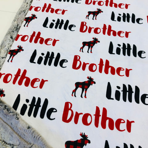 Little Brother Designer Luxe Minky Blanket