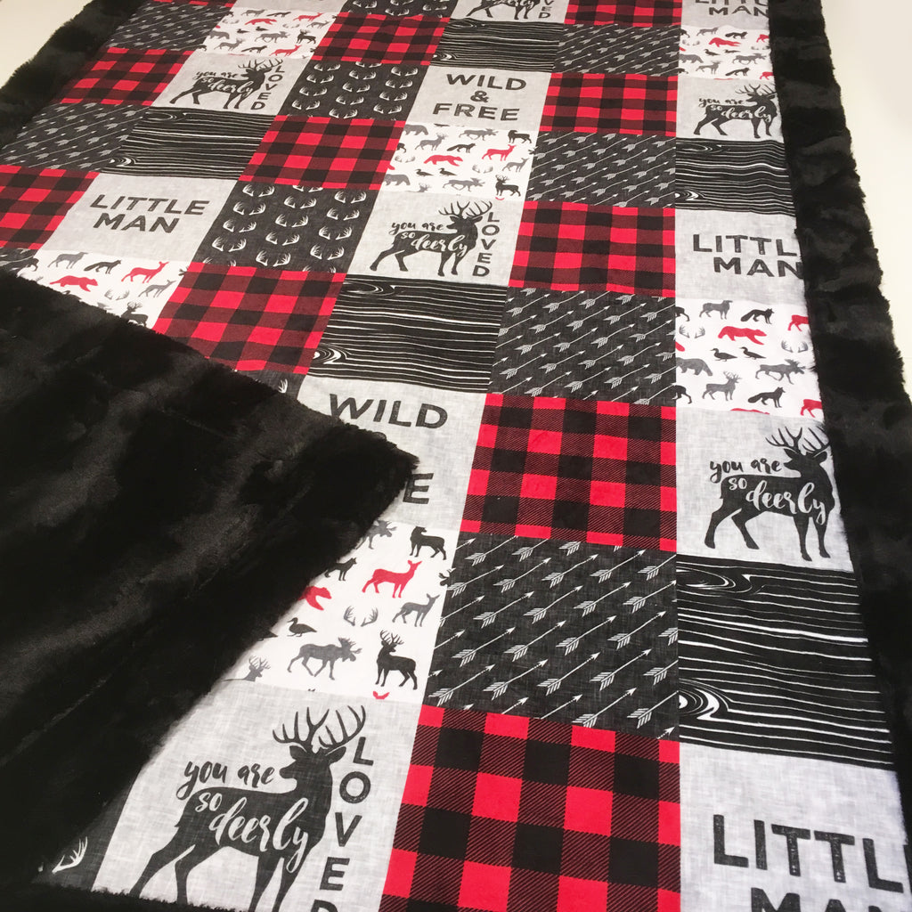 Little Man Wild and Free Designer Luxe Minky Blanket