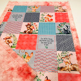 Mommy and Me Woodland Designer Luxe Minky Blanket