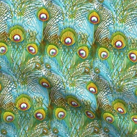 Peacock Feathers Designer Luxe Minky Blanket