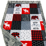 Support Wildlife Designer Luxe Minky Blanket