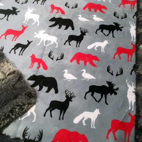 Woodland Animals Designer Luxe Minky Blanket