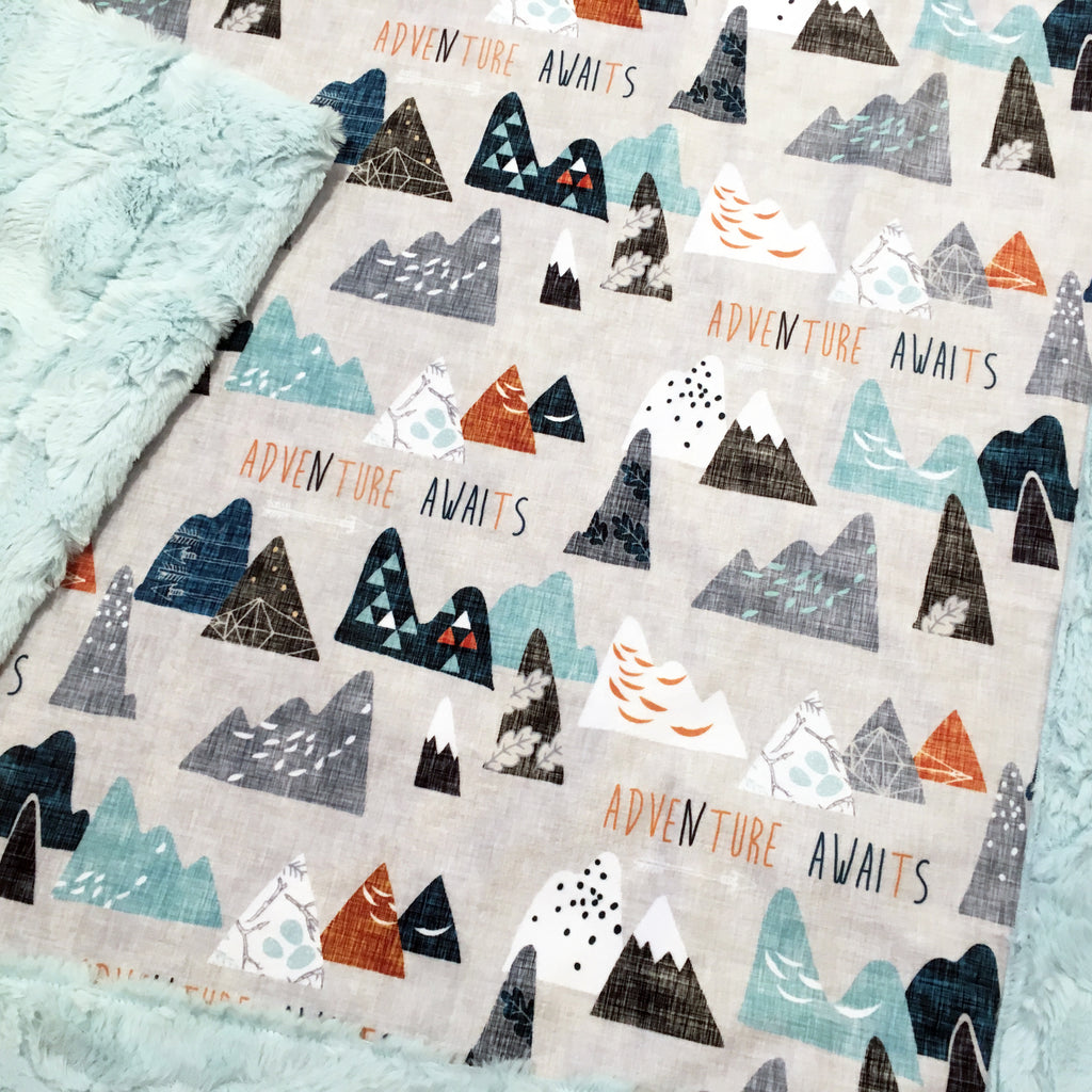 Adventure Awaits Designer Luxe Minky Blanket