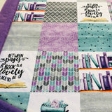 Between the Pages of a Book Designer Luxe Minky Blanket
