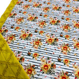 Golden Sunflowers Designer Luxe Minky Blanket