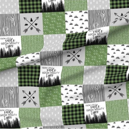 Green From Little Seeds Grow Mighty Trees Designer Luxe Minky Blanket
