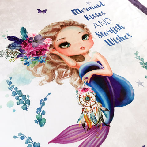 Mermaid Kisses Designer Luxe Minky Blanket