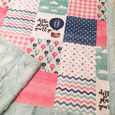 Oh The Places You'll Go Designer Luxe Minky Blanket
