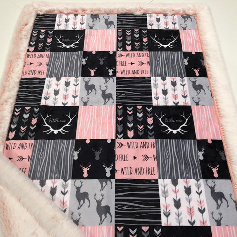 Wild and Free Designer Luxe Minky Blanket