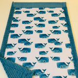 Whale Pods Designer Luxe Minky Blanket