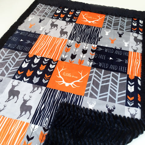 Wild and Free Woodland Designer Luxe Minky Blanket