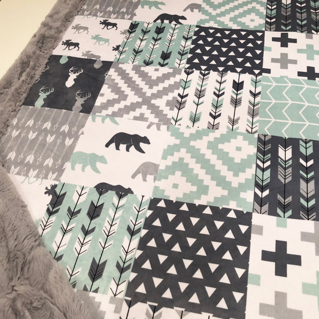 Willow Woods Designer Luxe Minky Blanket