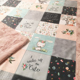 Woodland Friends Designer Luxe Minky Blanket