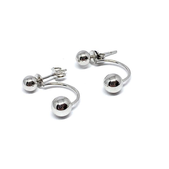 "THE ""DOUBLE DROP"" 2-IN-1 STERLING SILVER EARRINGS"