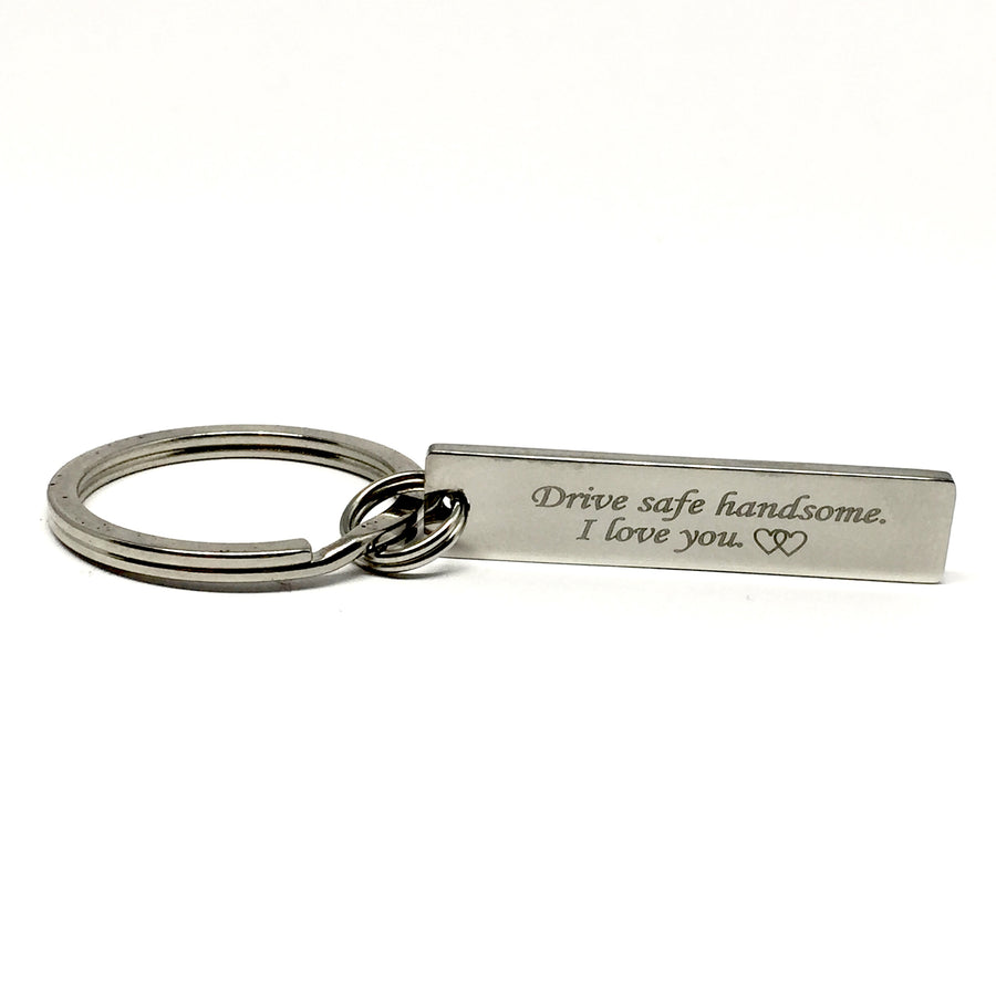 Drive Safe Handsome Rectangle Keychain