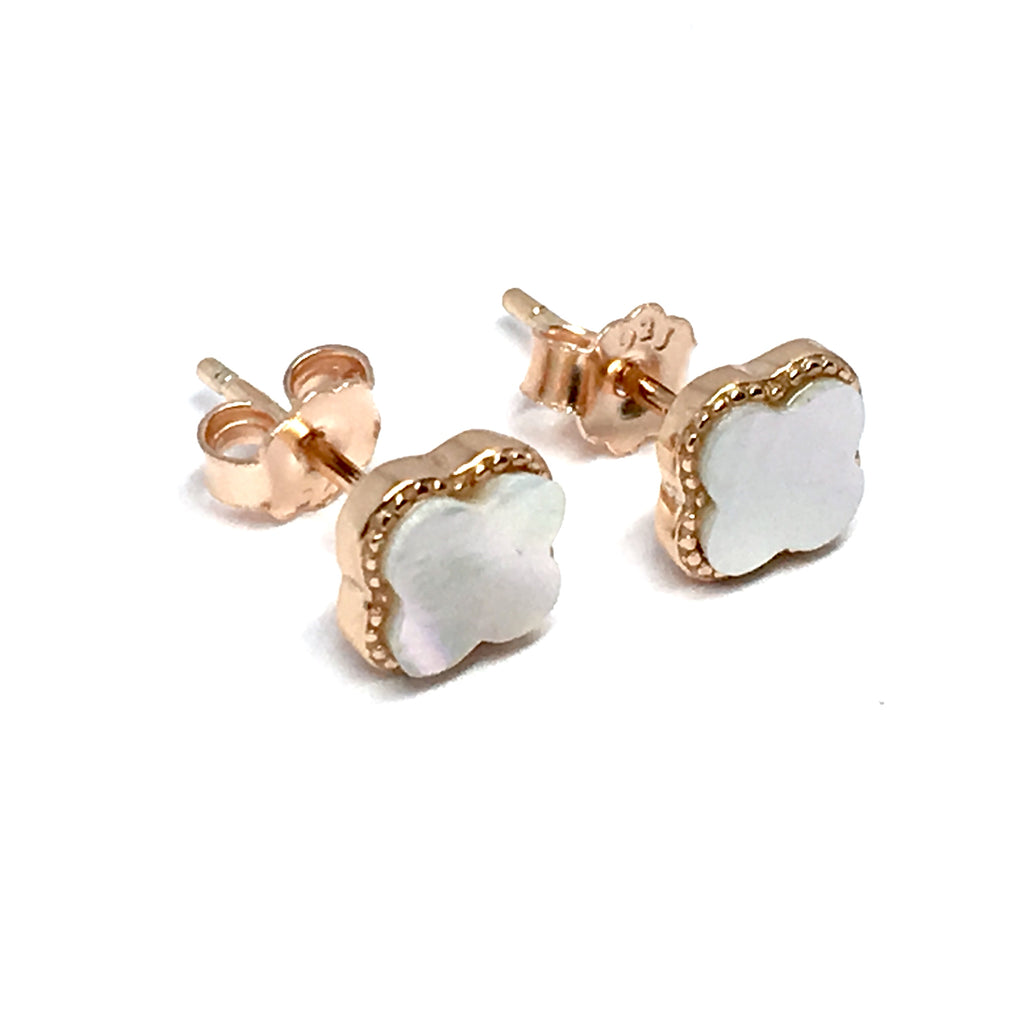 ROSE CLIFF PEARL STERLING SILVER EARRINGS (6mm)