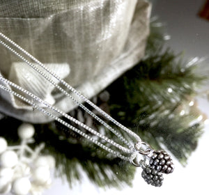 My Little Sterling Silver Pine Cone Necklace