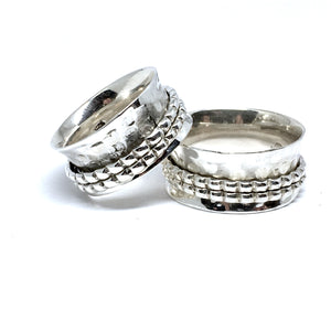 THE KIMMY STERLING SILVER MEDITATION / SPIN RING