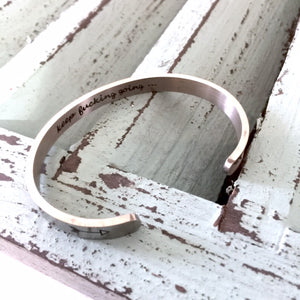Keep F-ing Going Stainless Steel Cuff